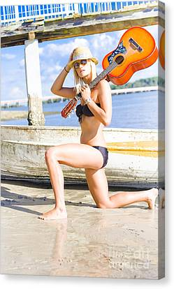 Rock And Roll Woman Canvas Print by Jorgo Photography - Wall Art Gallery