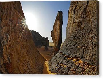 Hoggar Canvas Print - Rock Formations, Algerian Sahara by Science Photo Library