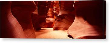 Rock Formations, Antelope Canyon, Lake Canvas Print by Panoramic Images