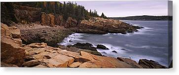 Rock Formations At The Coast, Monument Canvas Print by Panoramic Images