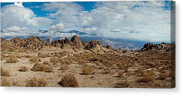 Rock Formations In A Desert, Alabama Canvas Print