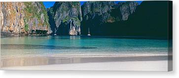 Rock Formations In The Sea, Phi Phi Canvas Print by Panoramic Images