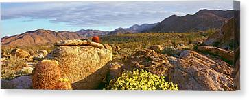 Rock Formations On A Landscape, Bow Canvas Print by Panoramic Images