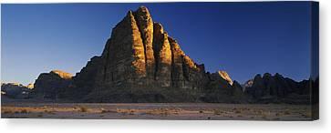 Rock Formations On A Landscape, Seven Canvas Print