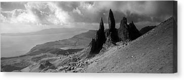 Rock Formations On Hill, Old Man Canvas Print by Panoramic Images