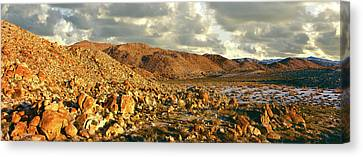 Rock Formations On Landscape Canvas Print by Panoramic Images