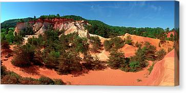 Rock Formations, Rustrel, Vaucluse Canvas Print by Panoramic Images