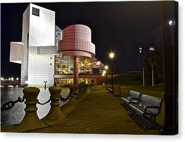 Rock N Roll Hall Of Fame Canvas Print by Frozen in Time Fine Art Photography