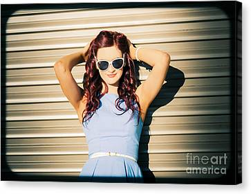 Rockabilly Greaser Pin-up. 50s Drive-in Culture Canvas Print by Jorgo Photography - Wall Art Gallery