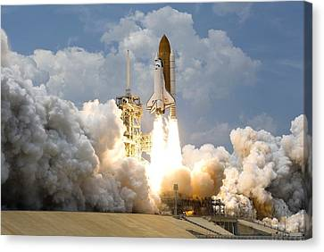 Rocket Launch Canvas Print by Celestial Images