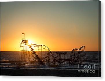 Roller Coaster Sunrise Canvas Print by Michael Ver Sprill