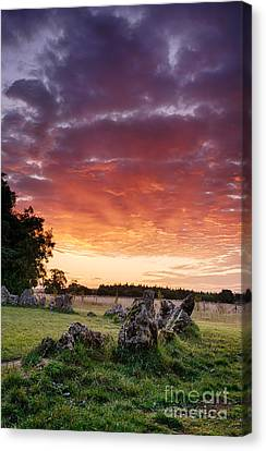 Rollright Stones Sunrise Canvas Print