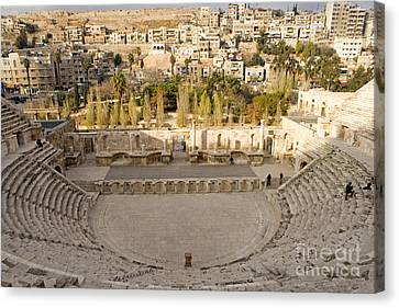 Roman Theater, Amman, Jordan Canvas Print by Adam Sylvester