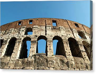 Rome, Italy A Detail Of The Flavian Canvas Print by David Noyes