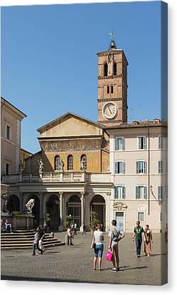 Rome, Italy. Santa Maria In Trastevere Canvas Print
