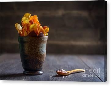 Root Vegetable Crisps Canvas Print by Amanda Elwell