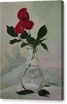 Rose Canvas Print by Barbara Moak