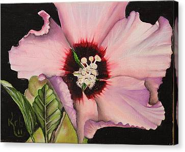 Althea Canvas Print - Rose Of Sharon by Karen Beasley
