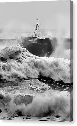 Rough Sea Training Canvas Print