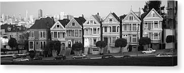 Row Houses In A City, Postcard Row, The Canvas Print by Panoramic Images