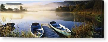 Rowboat Canvas Print - Rowboats At The Lakeside, English Lake by Panoramic Images