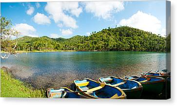Rowboat Canvas Print - Rowboats In A Pond, Las Terrazas, Pinar by Panoramic Images