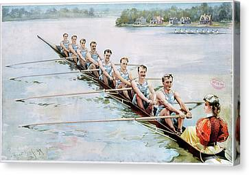 Rowing, C1900 Canvas Print