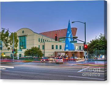 Roy E. Disney Animation Building In Burbank Ca. Canvas Print by David Zanzinger