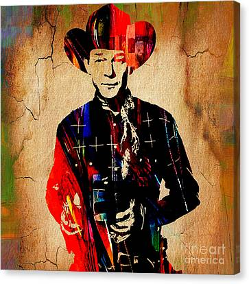 Classic Canvas Print - Roy Rogers Collection by Marvin Blaine