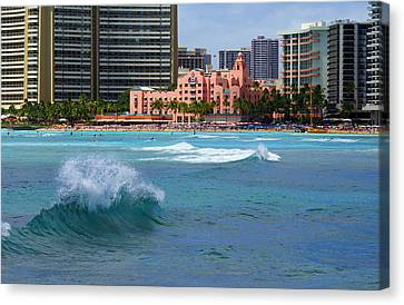 Royal Hawaiian Hotel Canvas Print by Kevin Smith