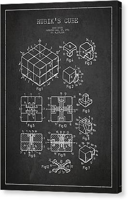 Rubiks Cube Patent Canvas Print by Aged Pixel