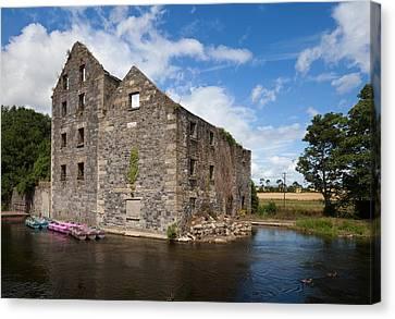 Rudkins Mill On The River Barrow, Muine Canvas Print