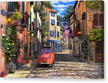 Rue Francais Canvas Print by Dominic Davison