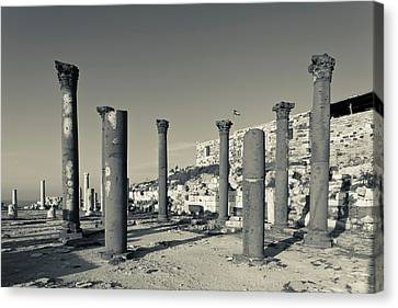 Jordan Canvas Print - Ruins Of Ancient Jewish And Roman City by Panoramic Images