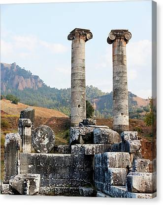 Zeus Canvas Print - Ruins Of The Temple Of Artemis  Sardis by Reynold Mainse