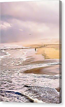 Run For The Wave Canvas Print by William Walker