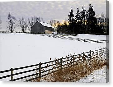 Rural Winter Landscape Canvas Print
