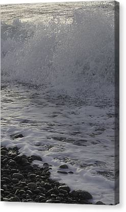 Rushing November Waves Canvas Print by Tom Trimbath