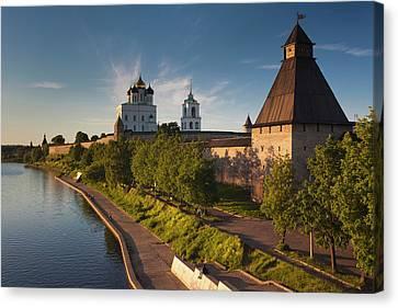 Russia, Pskovskaya Oblast, Pskov Canvas Print