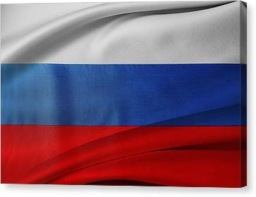 Russian Flag Canvas Print by Les Cunliffe
