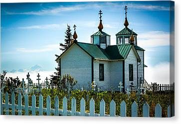 Russian Orthodox Church Canvas Print by Andrew Matwijec