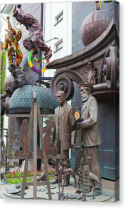 Russian Super-artist Sculptures, Zurab Canvas Print by Panoramic Images