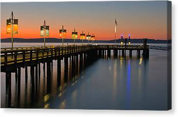 Ruston Way Tacoma Sunset Canvas Print by Bob Noble Photography