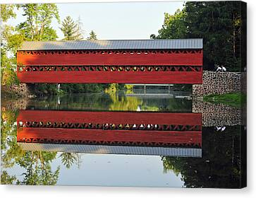 Sachs Covered Bridge Canvas Print by Dan Myers