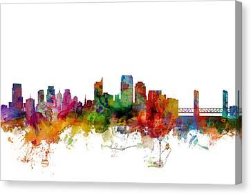 Sacramento California Skyline Canvas Print