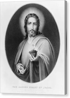 Sacred Heart Of Jesus Canvas Print by Granger