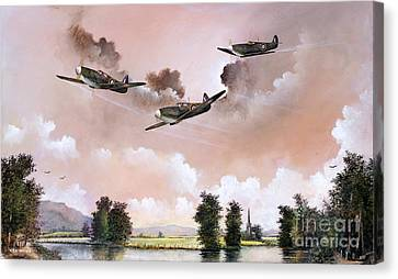 Airoplane Canvas Print - Safe Return by Ken Wood