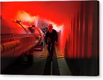 Safety Training At Cern Canvas Print