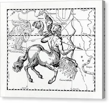 Centaur Canvas Print - Sagittarius by Detlev Van Ravenswaay