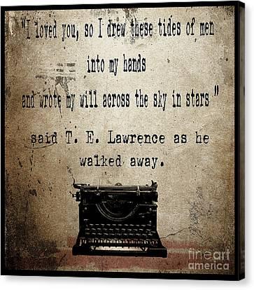 Said T E Lawrence Canvas Print